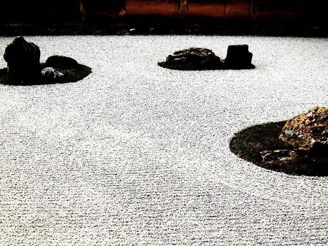 京都二日目 龍安寺 石庭