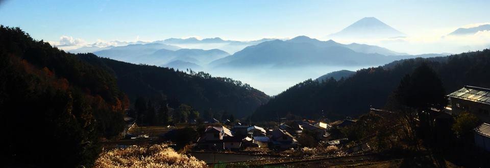富士川町ひらべーしからの富士