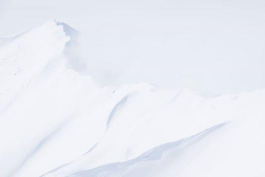 山頂の直下の二人