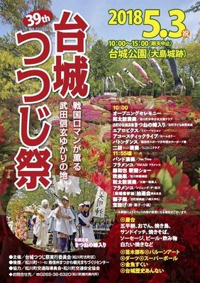 台城つつじ祭チラシ