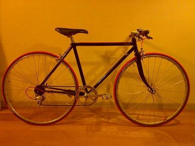 塗装自転車完成