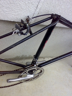 自転車フレーム塗装1