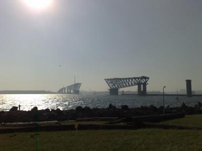 若洲海浜公園と橋