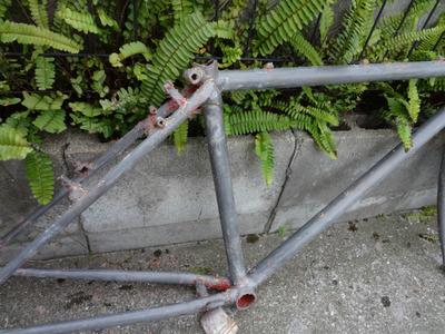 自転車フレーム塗装 (2)