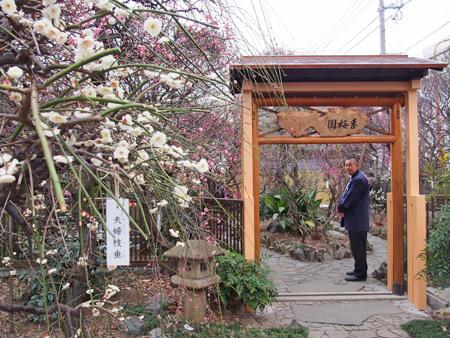 小村井香取神社 紅梅園の入り口