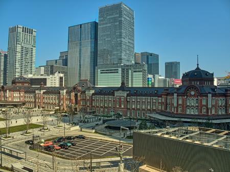 丸ビル5Fから見た駅舎