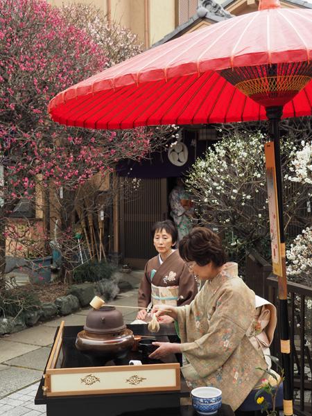 小村井香取神社梅まつりの野点