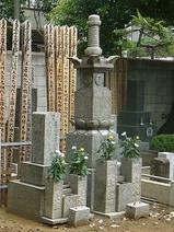 安立寺の江戸千家川上家の墓所