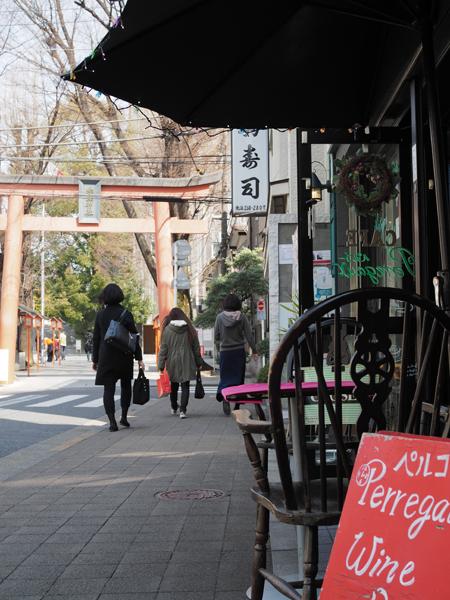 参道のカフェ