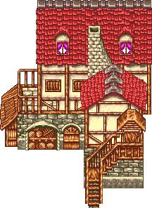 前に描いたドット絵 , 建物です。
