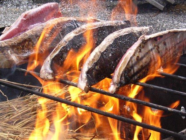 カツオのタタキ 藁焼き 2