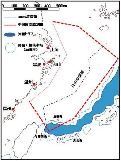 尖閣付近地図