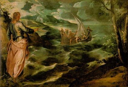 湖上を歩くキリスト