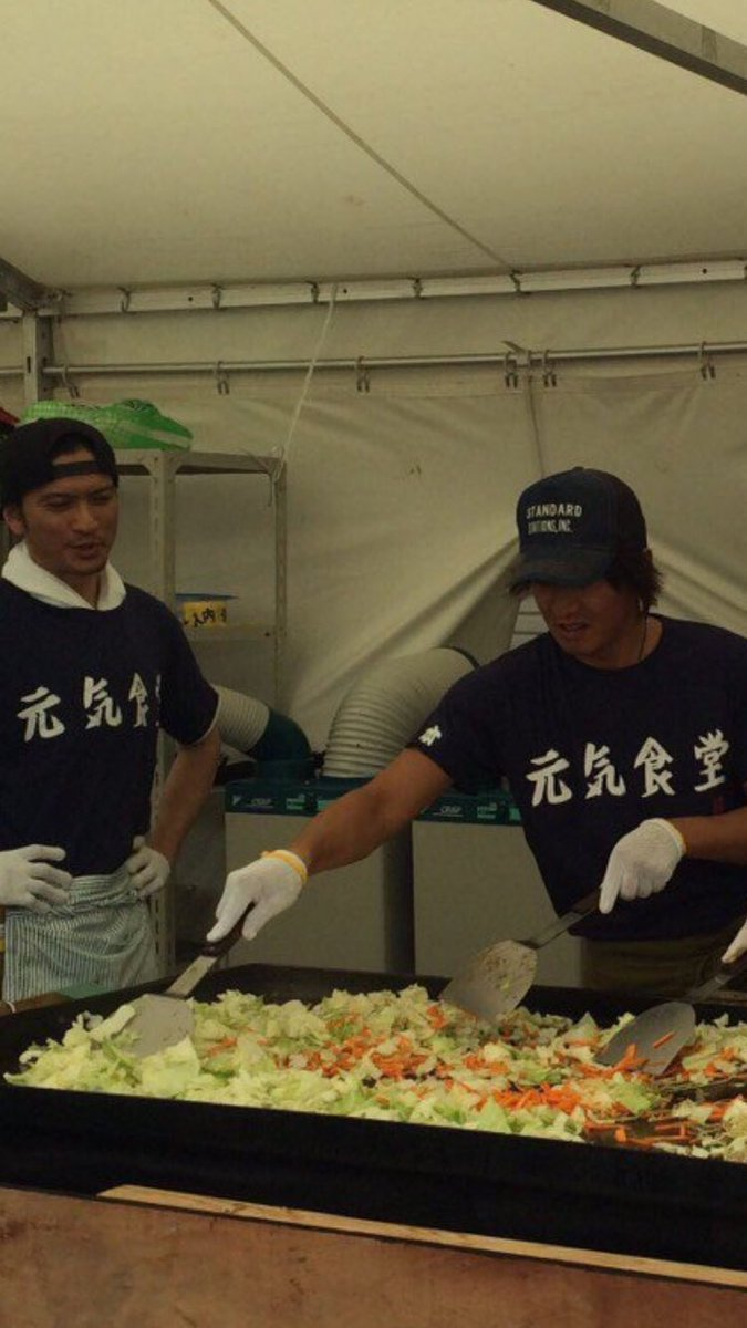 石原プロ炊き出しに木村拓哉 長瀬、岡田も 熊本地震被災地で舘ひろしが焼きそばレク