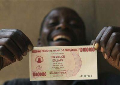 1000万ジンバブエドル札
