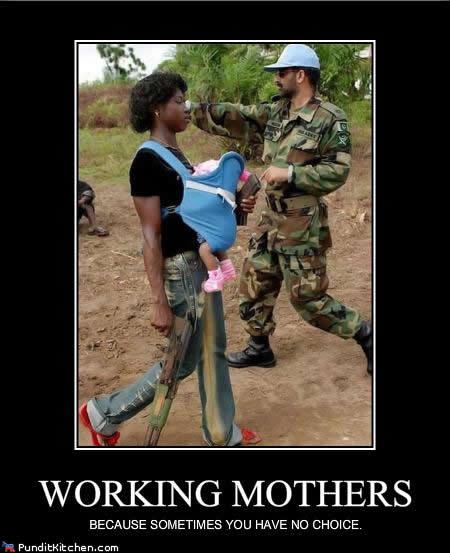 働くお母さん