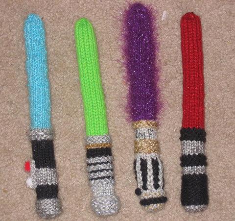 手編みのライトセーバー