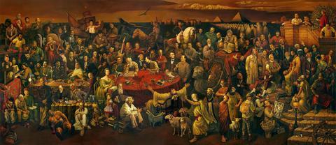 歴史上の偉人100人詰め込んだ絵