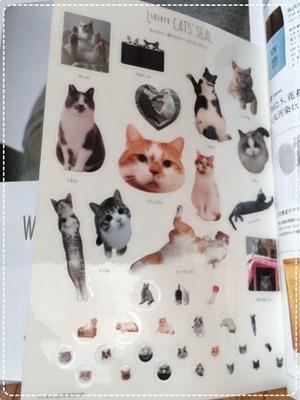 リンネル 猫シール