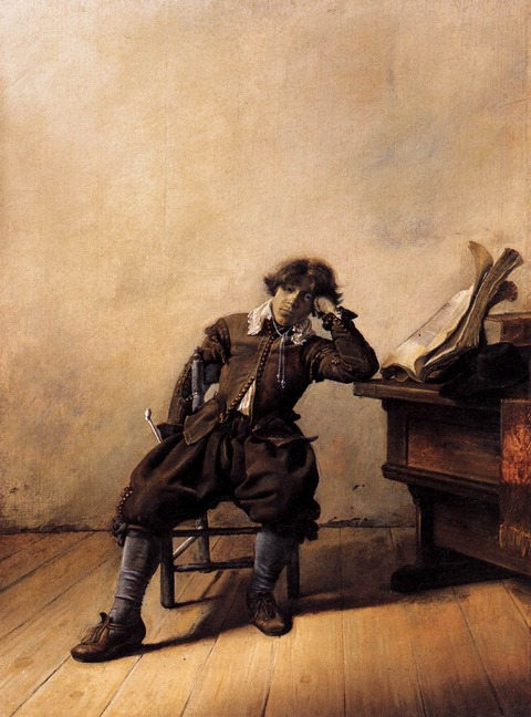 Student_at_His_Desk_-_Melancholy_(1633)_by_Pieter_Codde