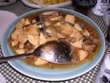 秋刀魚とニンニクの煮込み