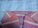 うさぎのカバーオールフード編み始め