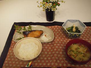 ぶりの照り焼き かぶの甘酢あえ 小松菜と・・