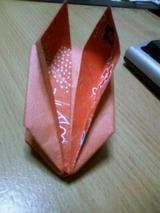 折り紙のウサギさん