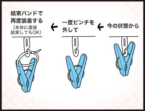 時短!引っ張るだけで洗濯物を全部外せる方法5