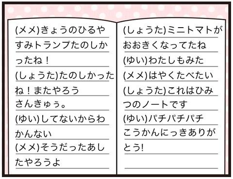 交換日記の形式3