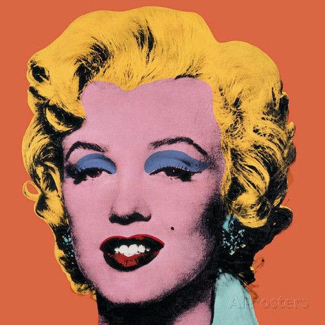 アンディ-ウォーホル-マリリン-オレンジ-1964