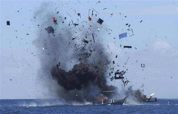 インドネシアの対応1爆破
