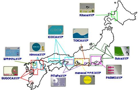 交通系電子マネー相関図