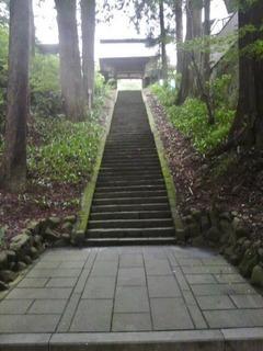 20140809物味湯産安楽寺階段