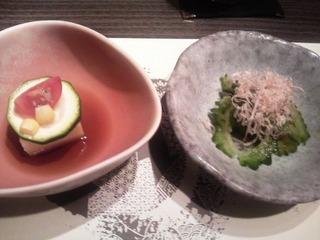 20140611鹿児島黒華蓮前菜