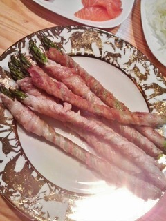 20140607夕食アスパラ