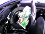 助手席のタイヤ