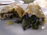 小松菜ギョーザ切り口アップ1