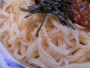 加須うどんランキング2位 辻九の肉味噌うどん麺アップ