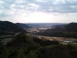 南総里見八犬伝2-滝田城址展望台からの眺め