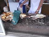 イカを焼いているところ