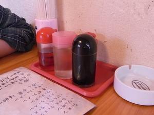 佐野ラーメン叶屋の卓上調味料