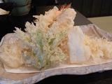 天ぷら盛り合せアップ