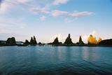 橋杭岩の朝焼け06