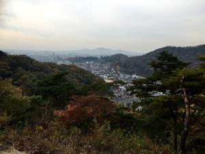もみじ谷の展望台からの景色