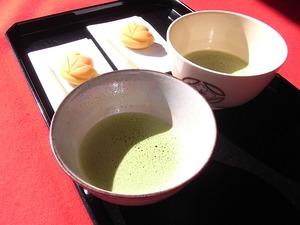 昭和記念公園日本庭園のお茶と茶菓子