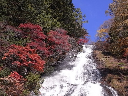紅葉の湯滝