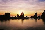 橋杭岩の朝焼け07