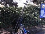 三脚を載せたレンタル自転車アップ