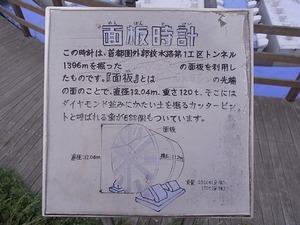 首都圏外郭放水路庄和排水機場 地底探検ミュージアム龍Q館 面板時計案内看板